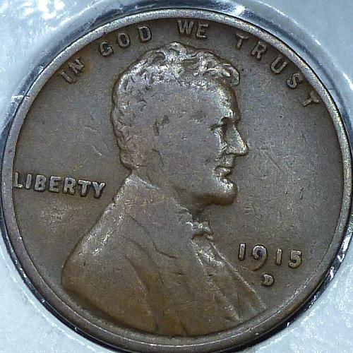 1915-D Very Good Lincoln Wheat Cent ( N-108)