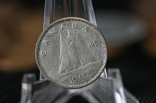 1953 Canada 10 Cent Silver