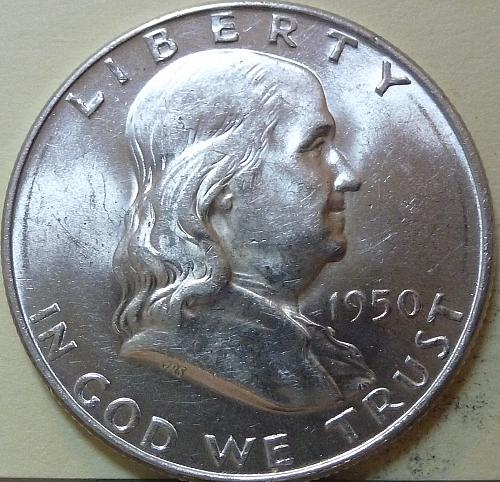 1950-P AU Franklin Half Dollar About Uncirculated ( S-107)