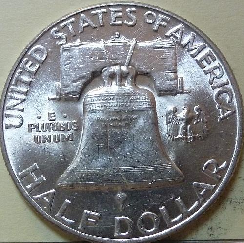 1950-P AU Franklin Half Dollar About Uncirculated ( S-107)