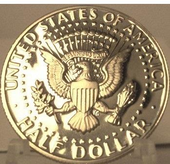 1980-S Deep Cameo Proof Kennedy Clad Half Dollar #0857