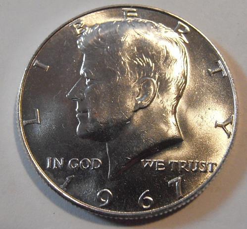 1967 BU Kennedy Half Dollar 40% Silver