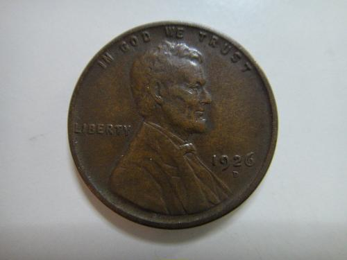 1926-D Lincoln Cent Very Fine-20 Nice Chocolate Brown & Hair Defintion!