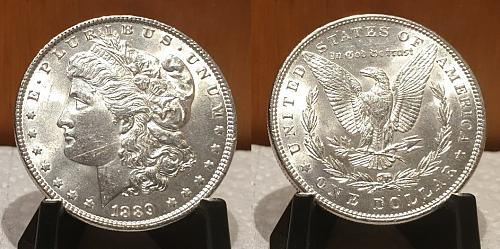 1889-P MORGAN DOLLAR UNCIRCULATED SILVER New Uncirculated fresh out the roll! E