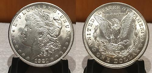 1921-P MORGAN DOLLAR UNCIRCULATED SILVER New Uncirculated fresh out the roll! R