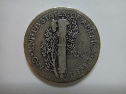 1921 Mercury Dime Fine-12 KEY DATE Nice Light Olive Original Patina!