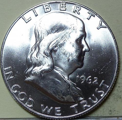 1962-D Gem BU Franklin Half Dollar With Full Bell Lines ( S-121)