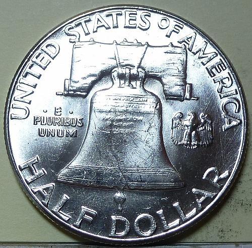 1963-P Gem BU Franklin Half Dollar With Full Bell Lines ( S-118)
