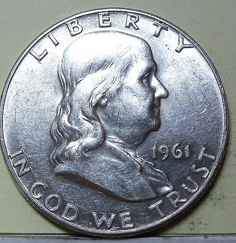 1961-D Gem BU Franklin Half Dollar With Full Bell Lines ( S-110)