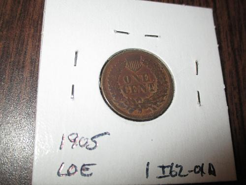 1862 XF45 Indian Head Cent.  Item: 1 I62-01.