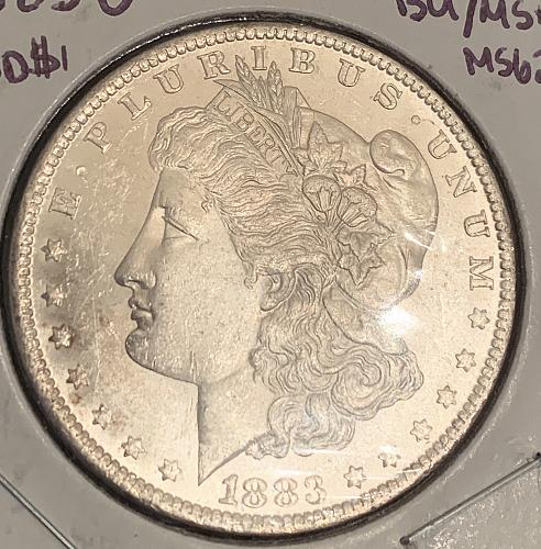 1883-O High Grade Semi-PL BU/MS+++ Morgan 90% Silver US Dollar - Original Mint L