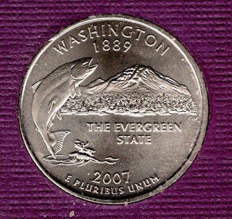 2007 P Washington 50 States and Territories Quarters - #1