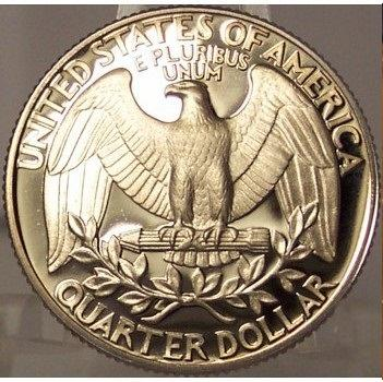 1987-S Deep Cameo Clad Proof Washington Quarter #0873