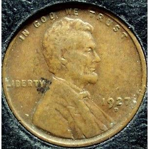 1927-D Lincoln Wheat Penny F #0879