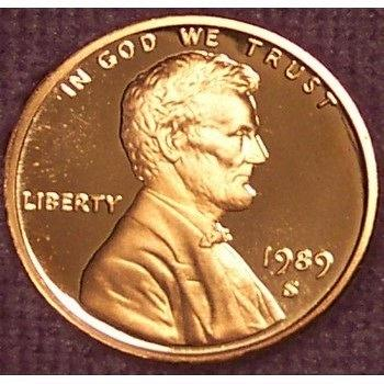 1989-S Deep Cameo Proof Lincoln Memorial Penny #0880