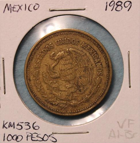 Mexico 1989 100 Pesos