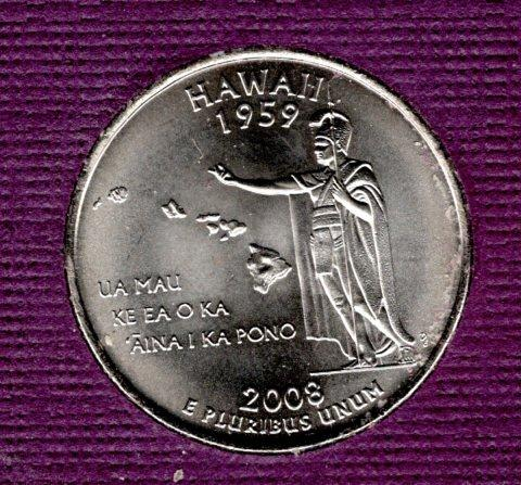 2008 P Hawaii 50 States and Territories Quarters -#1