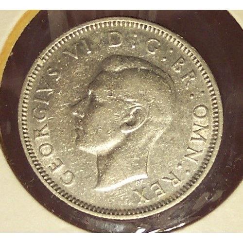 KM #854 Great Britain 1940 Silver Shilling #0934