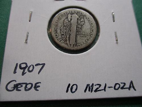1921 AG3 Mercury Dime.  Item: 10 M21-02.