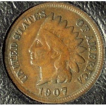 1907 Indian Head Penny FULL Liberty F12 #0938