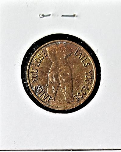 3 Old Novelty Flip Coins 3 Vintage Naked Lady Flip Coins 3 Coins Good Condition