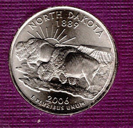 2006 D North Dakota 50 States and Territories Quarters -#2