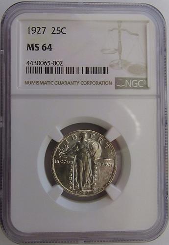 1927 Standing Liberty Quarter MS64 NGC #N1118