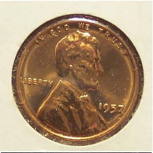 1957 Lincoln Wheat Back Proof Penny #0964