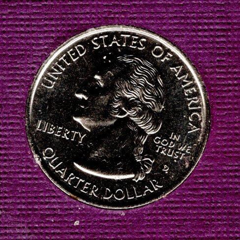 1999 D BU Delaware Washington Quarter #3