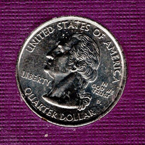 2000 D Massachusetts 50 States and Territories Quarters - #1