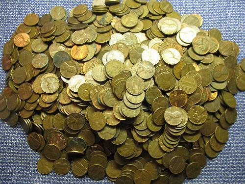 2,500  95% Copper Cents.  Item: Lot 1-01.