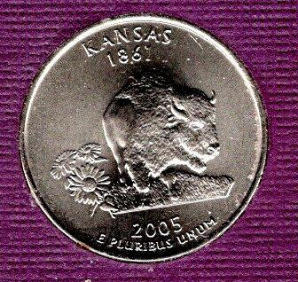 2005d BU Kansas Washington Quarter -#2