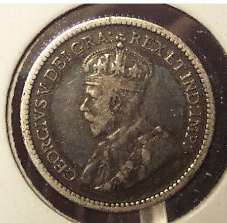 KM #22 Canada 1914 Canadian Silver 5c VF #0975