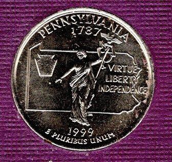 1999 P Pennsylvania 50 States and Territories Quarters - #3