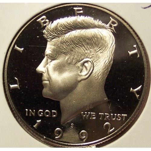 1992-S Deep Cameo Clad Proof Kennedy Half Dollar #0980