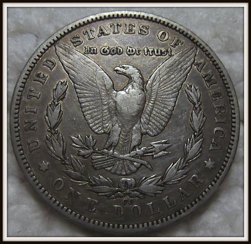 1891-CC $1 Morgan Silver Dollar