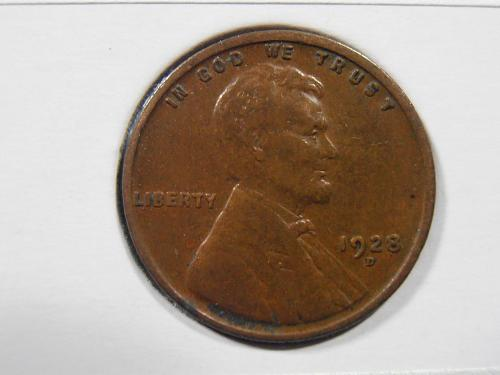 1928 D Lincoln Cent, (28DF3)