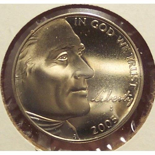 "2005-S Proof Jefferson Nickel ""Bison"" #01008"