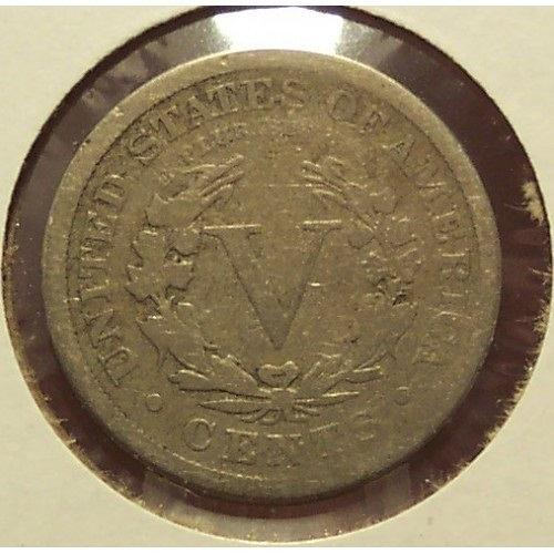 "1884 Liberty ""V"" Nickel G4 #01013"