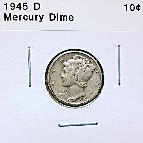 1945 D Mercury Dime - 4 Photos!