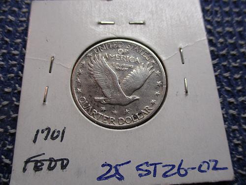 1926  F15 Standing Liberty Quarter.  Item: 25 ST26-02.