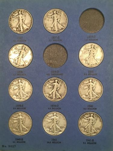 22 Walking Liberty Halves..All different dates and Mintmarks