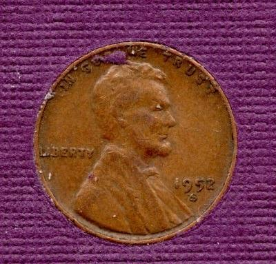 1952 S Lincoln Wheat Cent Small Cents - 2