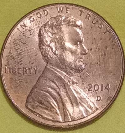 2014-D.. Lincoln cent