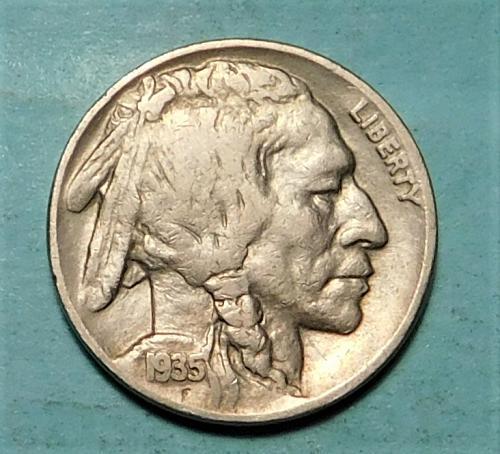 1935 D  Buffalo/Indian Head Nickel