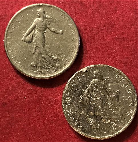 France 1965 - 1/2 Franc (both small and large legends) [#1]