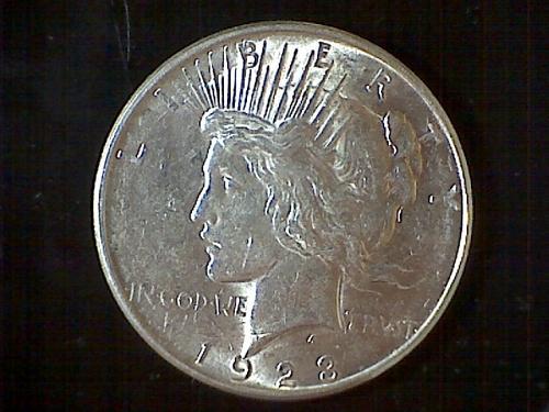 1923-d Peace Dollar