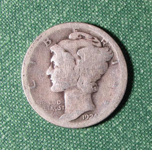 1924P Mercury Silver Dime