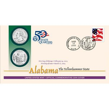 U.S. MINT- 2003 STATE QUARTERS_1ST DAY COVERS_ SET OF FIVE COVERS