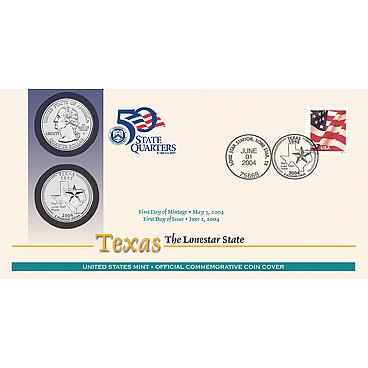 U.S. MINT- 2004 STATE QUARTERS_1ST DAY COVERS_ SET OF FIVE COVERS